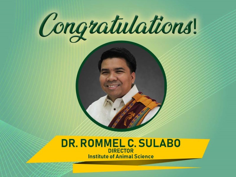 Rommel C. Sulabo Named as New IAS Director, to Strengthen the Institute's Research and Extension Program