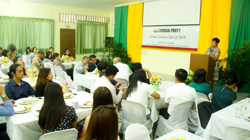 IAS Honors ANSC Students at Testimonial Party