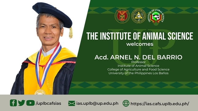 IAS Welcomes Acd. del Barrio in Its Roster of Faculty